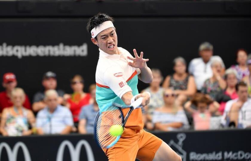 El tenista japonés Kei Nishikori (en la imagen) superó las semifinales de Brisbane tras barrer por 6-2 y 6-2 al francés Jérémy Chardy e intentará poner fin a su mala racha en las finales, pues suma un total de nueve perdidas tras la consecución de su último torneo en Memphis en 2016. EFE