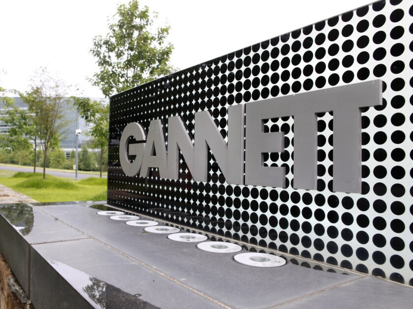 Gannett owns about 110 newspapers, including USA Today.