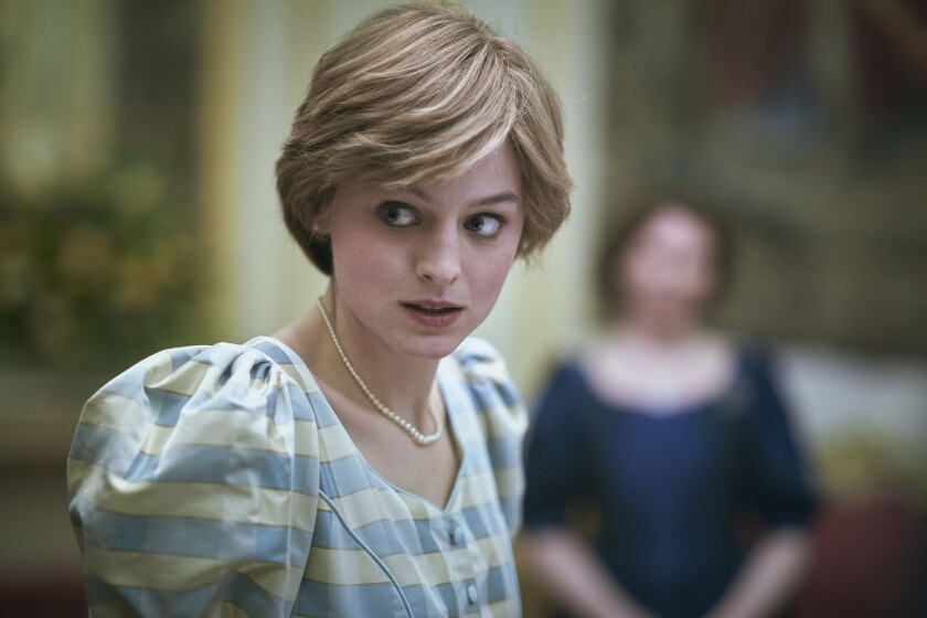 """""""It's been exhilarating,"""" Emma Corrin says of playing Princess Diana on """"The Crown."""""""