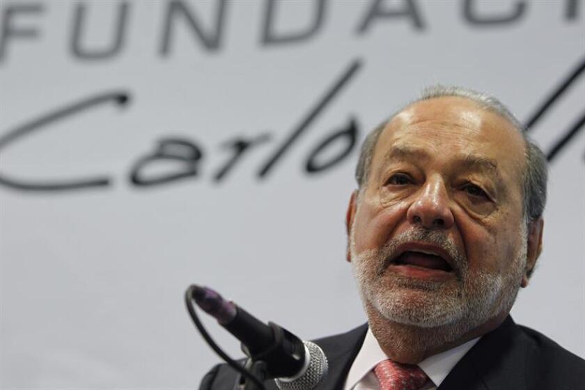 El empresario mexicano Carlos Slim ofrece una rueda de prensa. EFE/Archivo