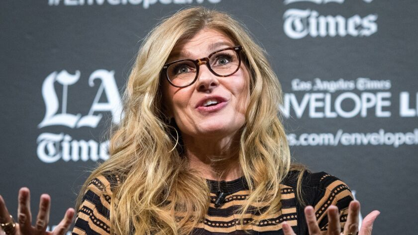 """HOLLYWOOD, CA - NOVEMBER 27, 2018: Actor Connie Britton at the LA Times Envelope Live screening of """""""