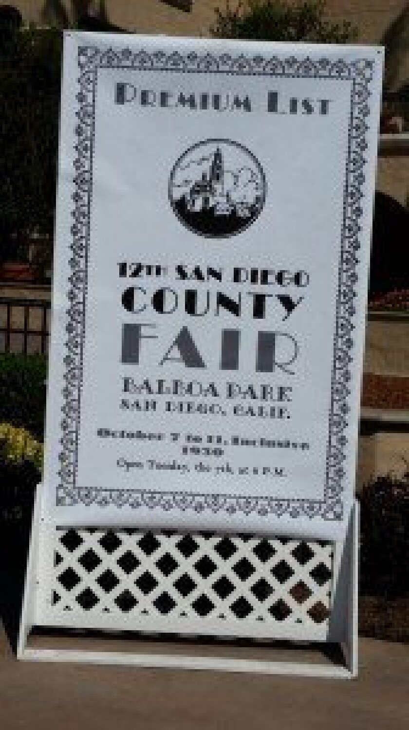 Poster depicts theme for the 2015 San Diego County Fair: the Balboa Park exposition of 1915.