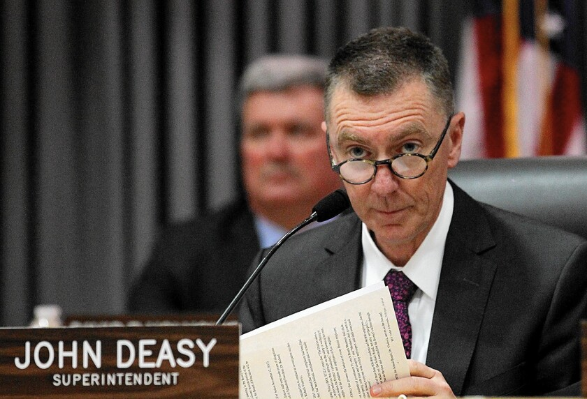 John Deasy, shown in 2013, was considered a bold choice when he was hired as Los Angeles Unified School District superintendent in 2011.