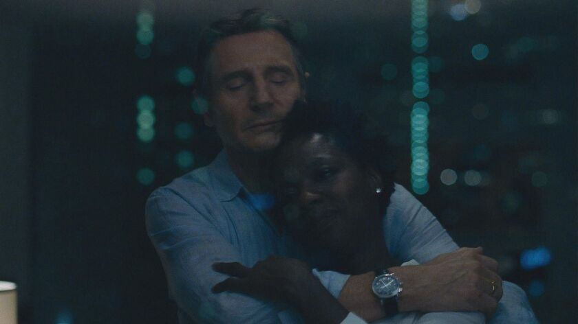 Liam Neeson and Viola Davis in Twentieth Century Fox's WIDOWS. Photo Credit: Courtesy Twentieth Ce