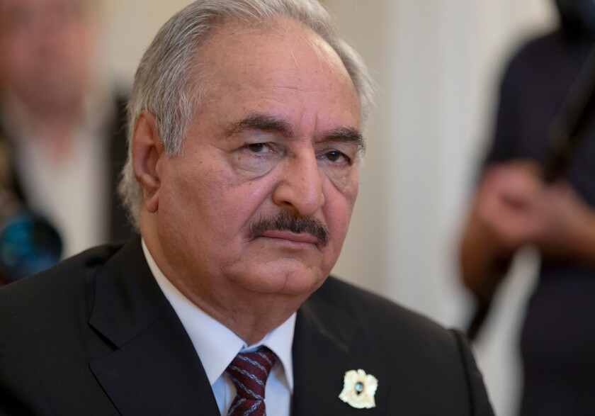 Russian fighters are believed to be backing commander Khalifa Hifter, whose forces have been trying for months to capture Tripoli, the capital of Libya.