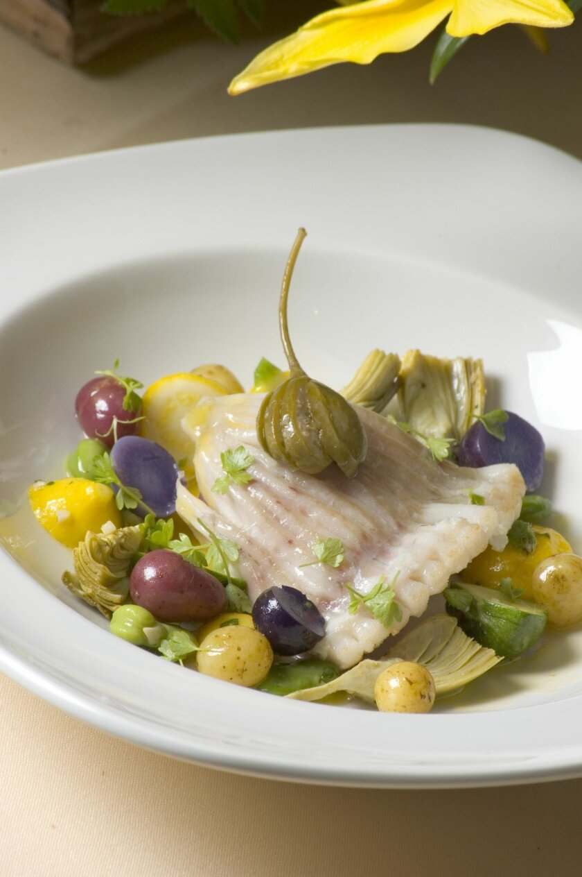 Chef Martin Woesle's French cuisine uses the freshest local produce.