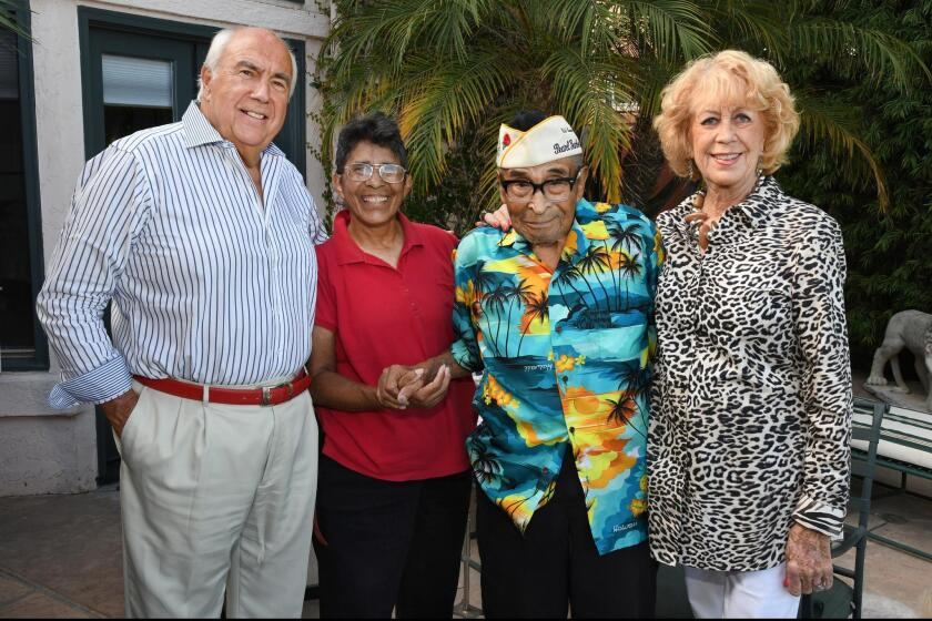 Richard Rovsek, Kathleen Chavez, Ray Chavez (oldest Pearl Harbor survivor), Jeri Rovsek