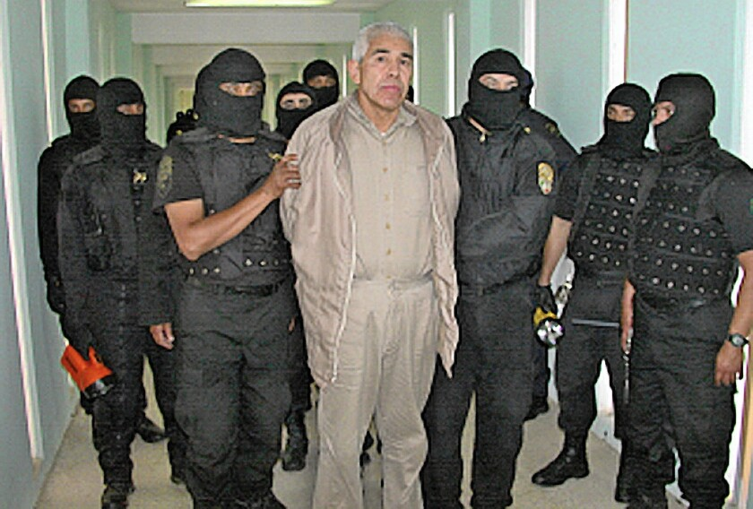 Drug lord Rafael Caro Quintero, seen in 2005, was arrested and convicted in Mexico and sentenced to 30 years in prison. But Mexican officials denied U.S. requests to interview him, much less extradite him, and he was released in 2013.