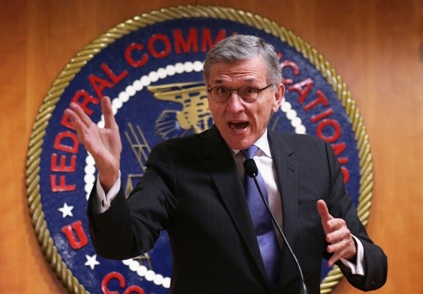 Federal Communications Commission Chairman Tom Wheeler speaks during a May 15 news conference after the agency voted to advance his Net neutrality proposal.