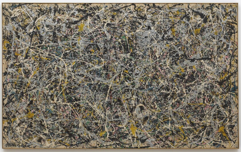 Jackson Pollock, Number 1, 1949, enamel and metallic paint on canvas, 63 x 102 1/2 in. (160.02 x 260