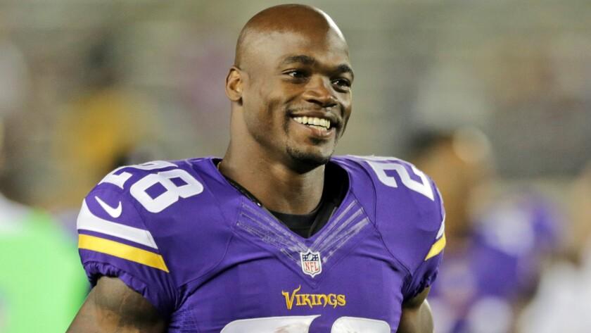 de94d060 Minnesota Vikings' Adrian Peterson reinstated by NFL - Los Angeles Times