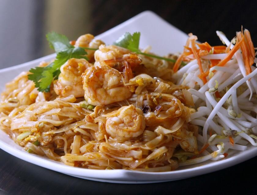 Kozy Korner's Pad Thai with shrimp
