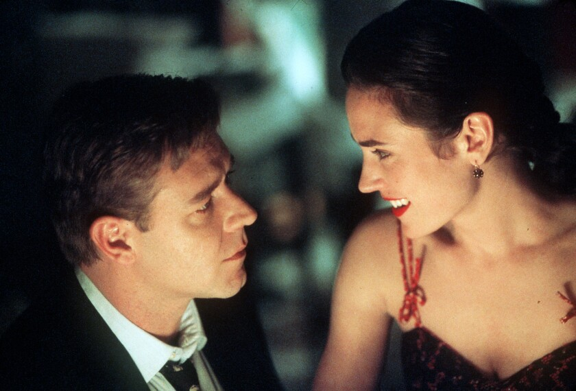 """Russell Crowe and Jennifer Connelly in """"A Beautiful Mind."""""""