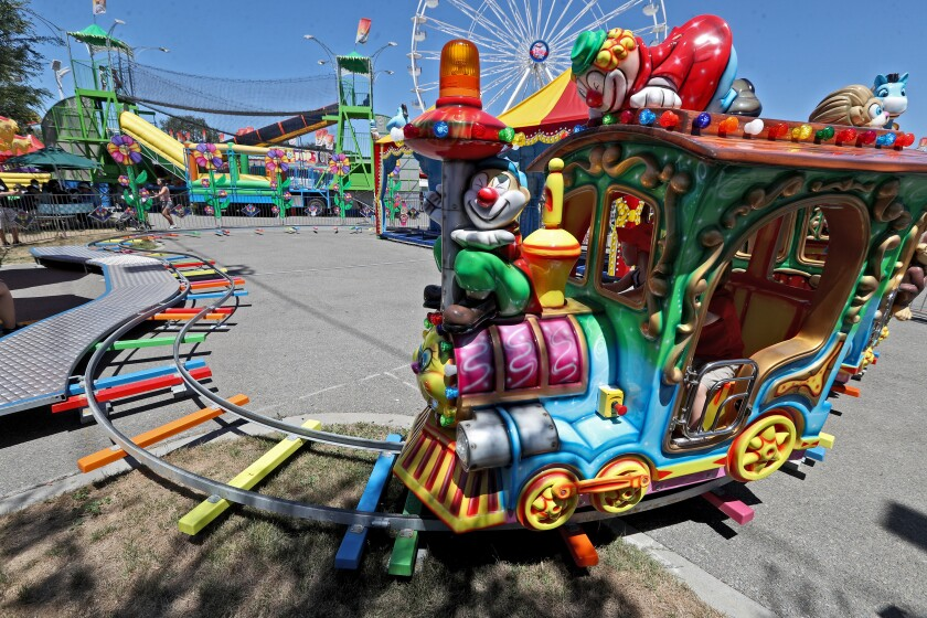 The Happy Train was a new ride at the 2019 kiddie carnival at the Orange County Fair.