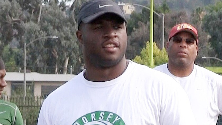 Stafon Johnson, who was a standout running back at USC and Dorsey, is the new football coach at Dorsey.