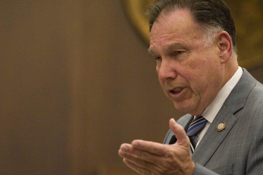 Orange County Dist. Atty. Tony Rackauckas delivers his rebuttal during closing arguments.