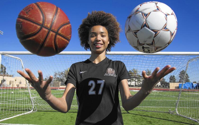 Xolani Hodel of Huntington Beach High is the Daily Pilot High School Female Athlete of the Week.