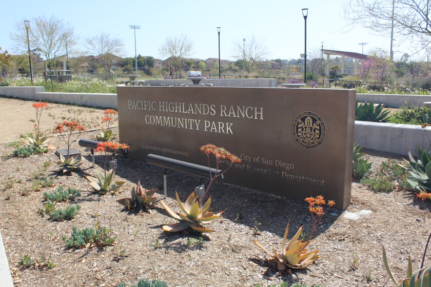 Park property has been vandalized multiple times in Pacific Highlands Ranch.