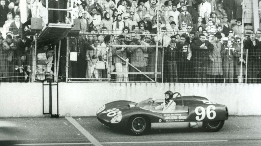 Dan Gurney wins the inagural Daytona 3 Hour Continental sports car race in 1962, forerunner of the 2