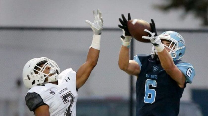 Corona del Mar's John Humphries had five catches for 117 yards and two touchdowns last week.