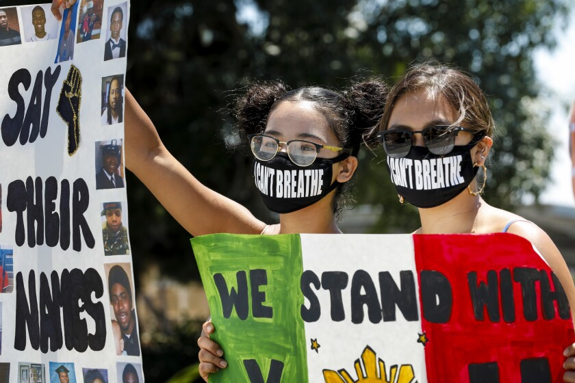 Protestors hold peaceful demonstration in Chula Vista