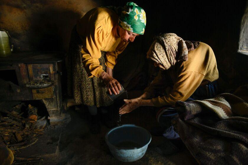 """Hatidze Muratova and her mother, Nazife, in the movie """"Honeyland."""""""