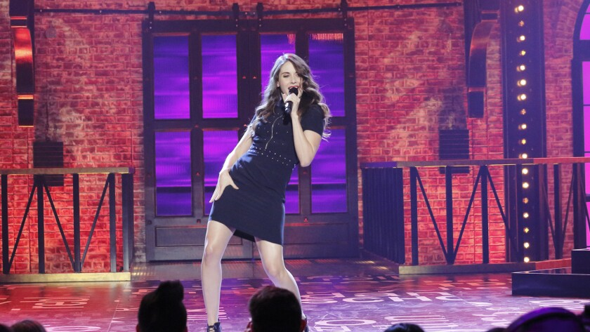 """Alison Brie competes in a new """"Lip Sync Battle"""" on Spike TV."""