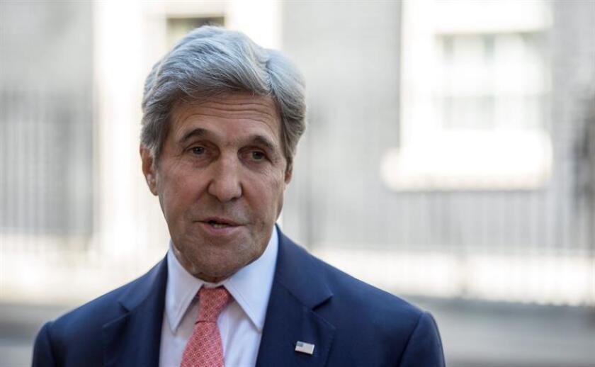 El secretario de Estado, John Kerry, pronunciará este miércoles un discurso sobre la visión del Gobierno del presidente Barack Obama para la paz en Oriente Medio, informó hoy el portavoz del Departamento de Estado, Mark Toner. EFE/ARCHIVO