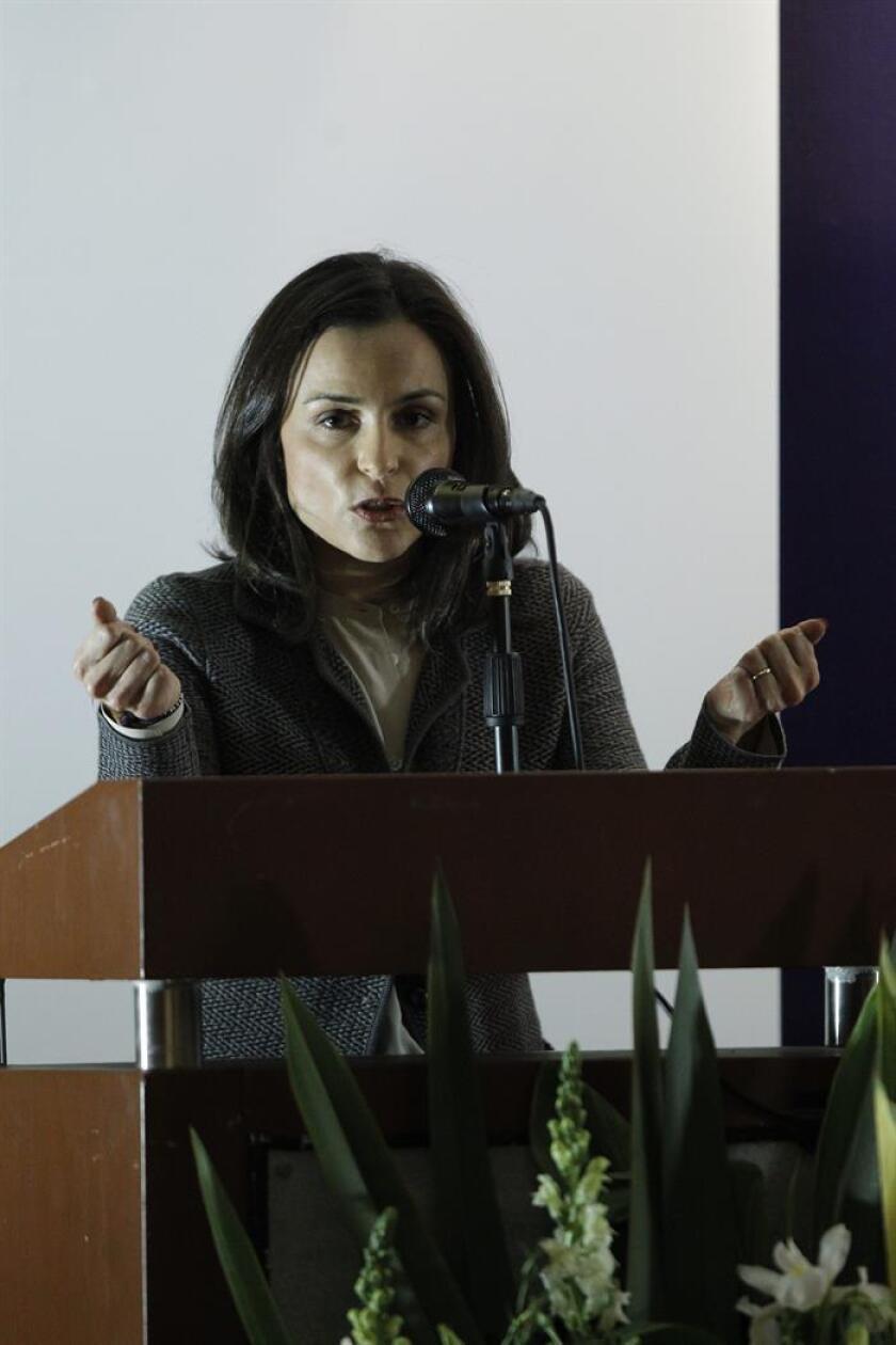 La presidenta de la Comisión Federal de Competencia Económica de México, Alejandra Palacios. EFE/Archivo