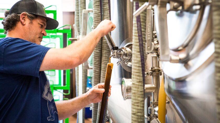 Jeff Bagby at Bagby Beer Company in Oceanside