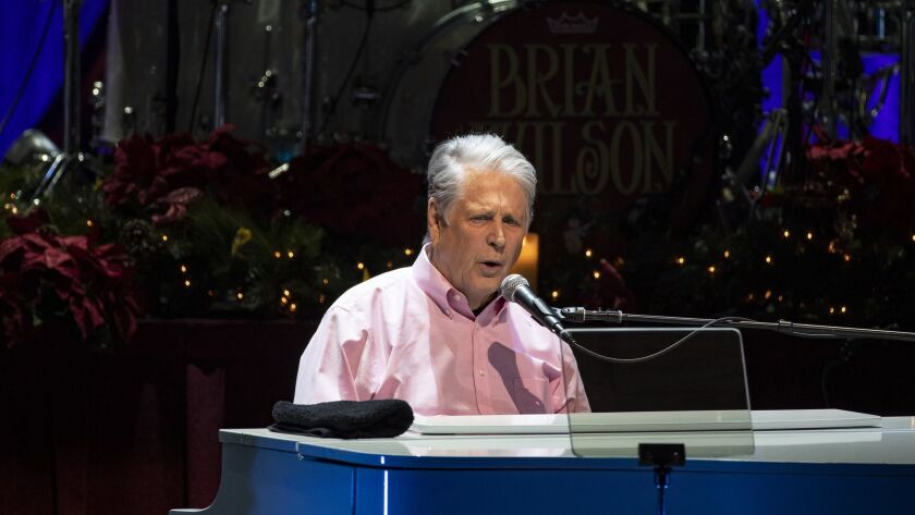 THOUSAND OAKS, CA - DECEMBER 20, 2018: Brian Wilson sings hits from the Beach Boys' iconic 1964 Chr