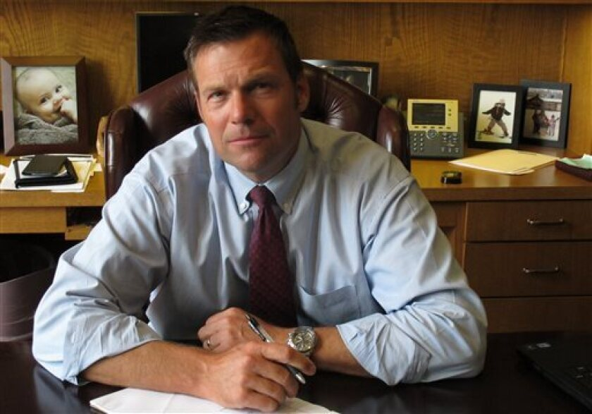 Kansas Secretary of State Kris Kobach, the architect of the state's proof-of-citizenship law for new voters.