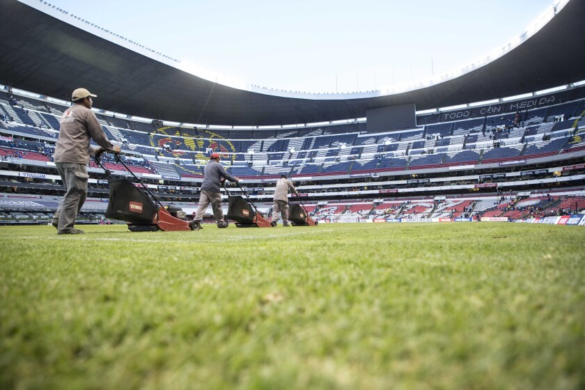 El Estadio Azteca, casa de la seleccion mexicana.