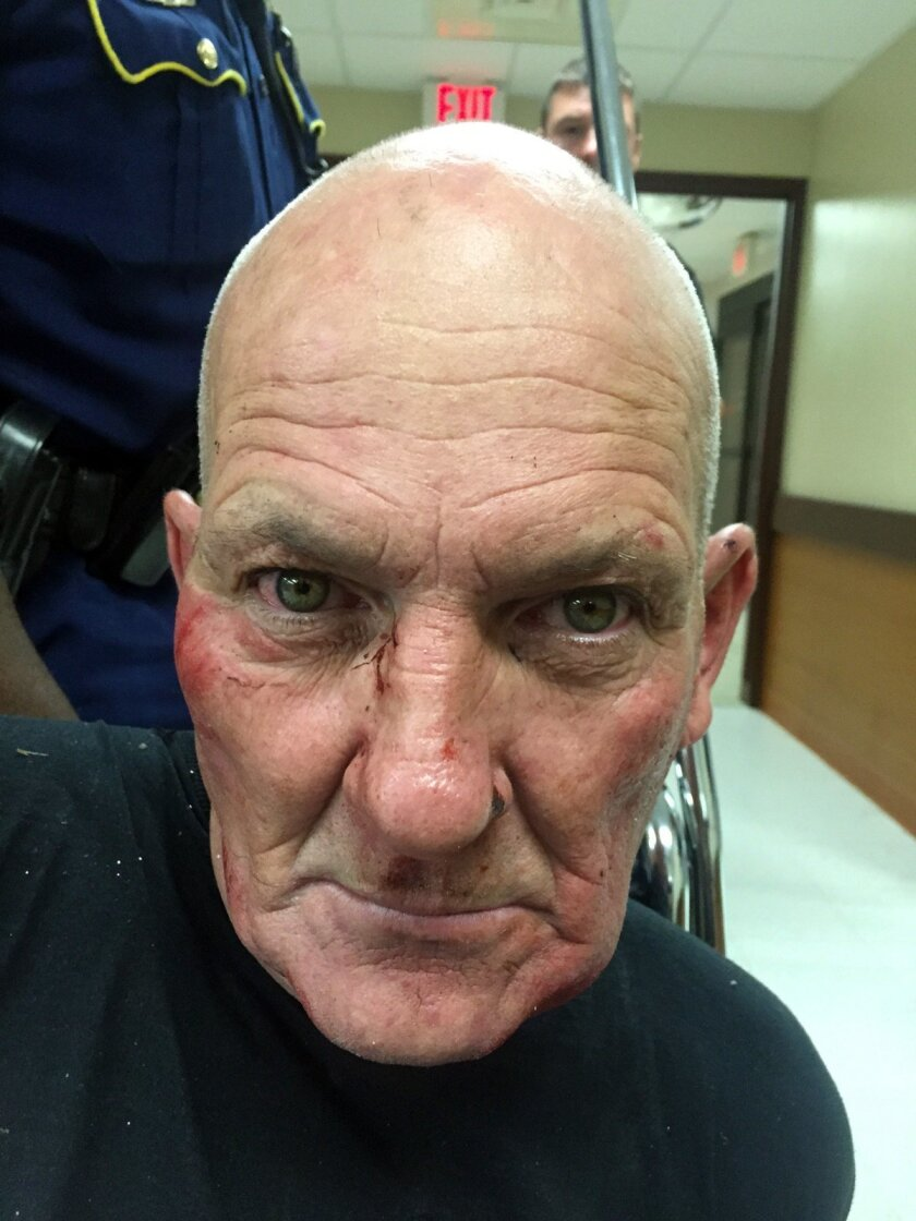 This photo released by the Louisiana State Police shows Kevin Daigle, 54, of Lake Charles, La. A Louisiana state trooper was shot in the head and critically injured Sunday, Aug. 23, 2015, during a struggle with a man whose pickup truck had run into a ditch after being reported as driving erratically, Louisiana State Police said. Col. Michael Edmonson, head of state police, said the arrested man, Daigle, had a number of previous arrests, though he did not know details. He said he did not know all the charges that Daigle will face, but they will include attempted murder of a police officer. (Louisiana State Police via AP)