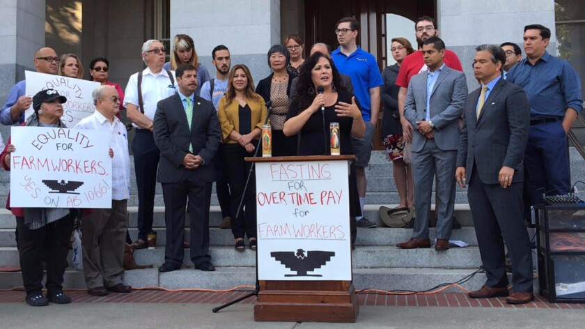 Lawmakers, faith leaders and farmworkers embark on a 24-fast in support of expanding farmworker overtime pay.
