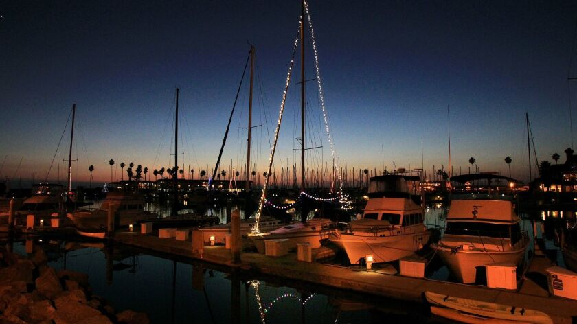 Oceanside Harbor before the Christmas Parade of Lights