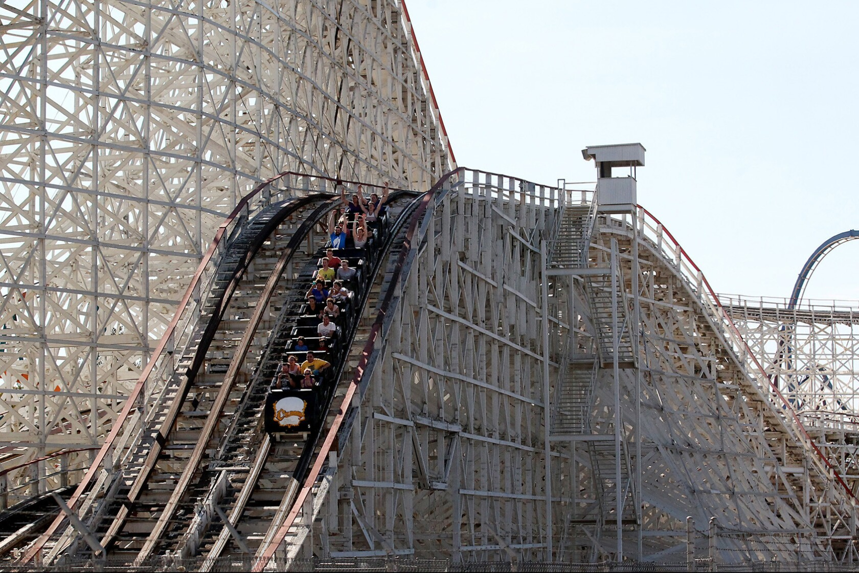 Six Flags' Colossus wood roller coaster to close Saturday