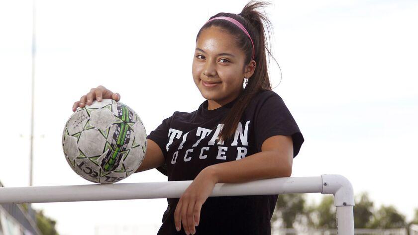 November 19, 2018_Eastlake high school girls soccer player Krista Eberle, who plays the center back