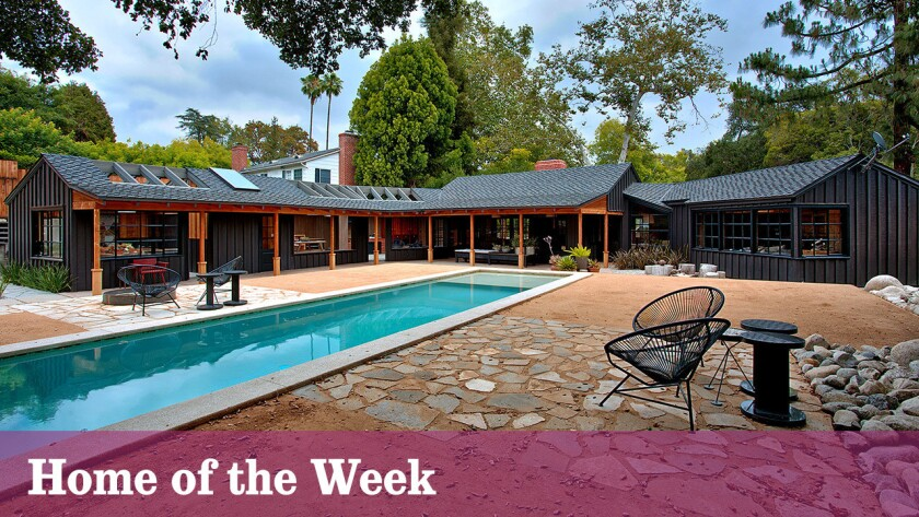 The renovated ranch-style home, listed for $5.5 million, includes two guest suites, a new-look swimming pool, a pool house and a greenhouse.