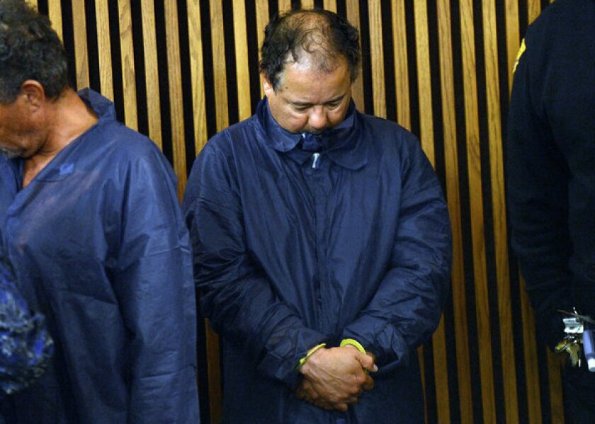 Suspect Ariel Castro stands during his arraignment last week in Cleveland.