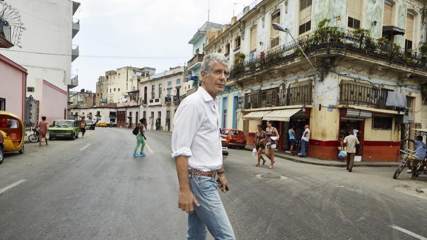 Anthony Bourdain visits Havana, Cuba, on April 16, 2015.