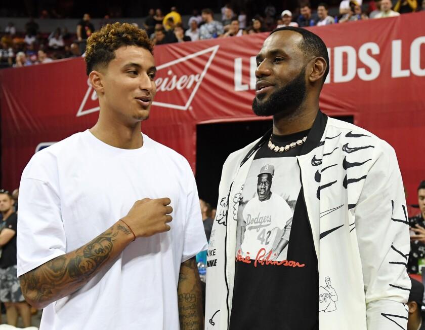 Lakers forward Kyle Kuzma and LeBron James
