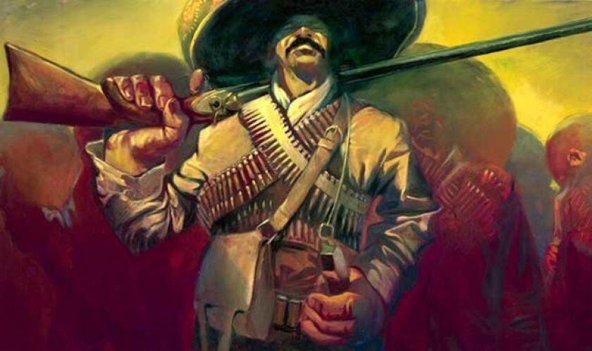 Pancho Villa, as drawn by Los Angeles-based painter Gabe Leonard.