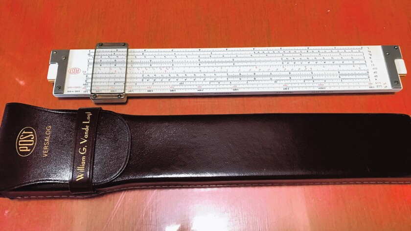 A slide rule with a back story. Does life get better than that?
