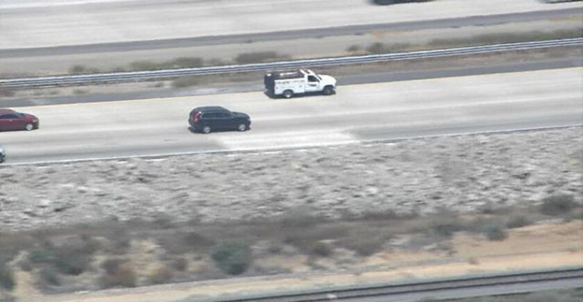 A driver reached speeds of more than 120 mph during a police pursuit that spanned three Southern California counties Tuesday afternoon.