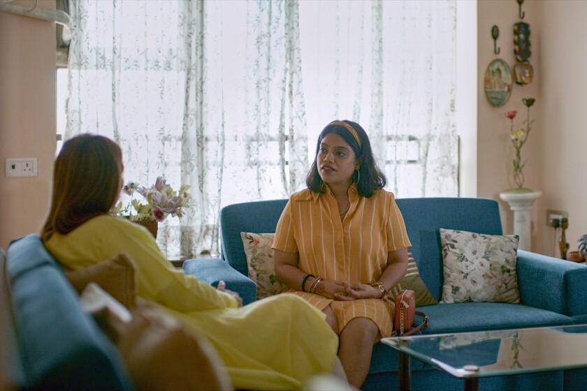"Ankita Bansal in an episode of ""Indian Matchmaking."""
