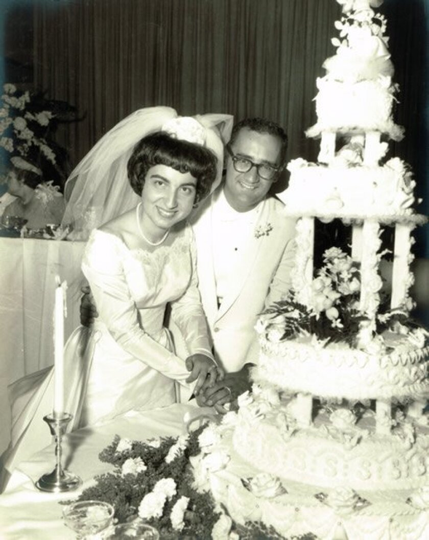 Marion and William Demos on their wedding day in 1964.