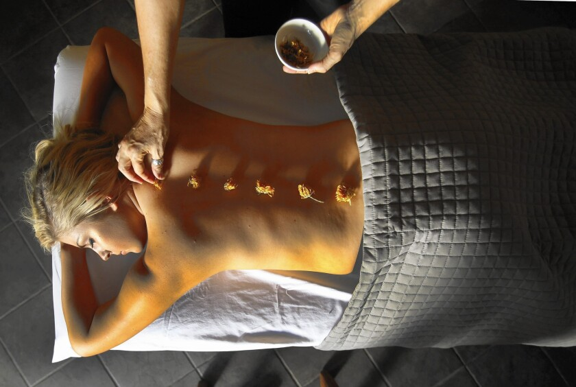At the Golden Door in San Marcos, Calif., bliss begins at the spa. Included in the prices are daily massages. The facility offers healing for the inner self, too.
