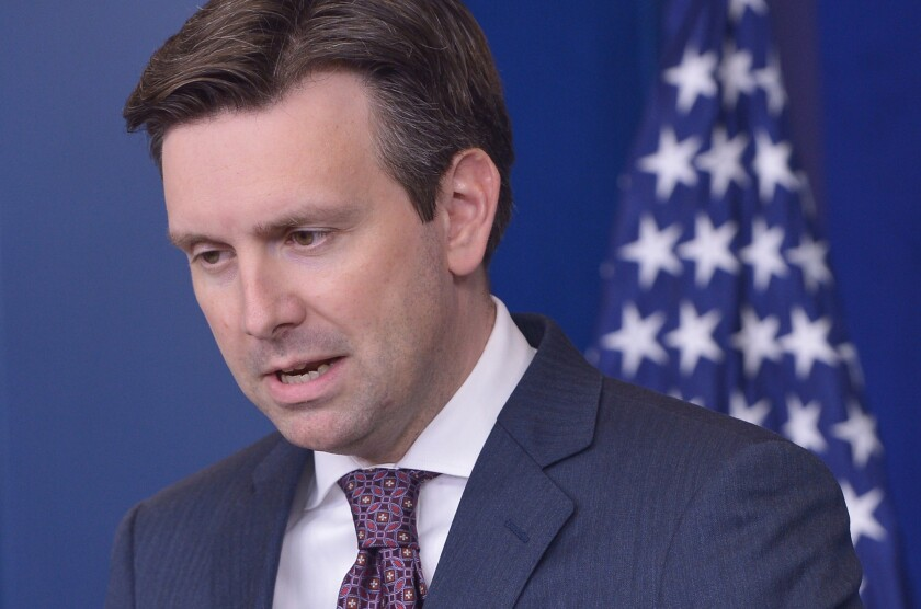 White House Press Secretary Josh Earnest answers questions on the cyberattack on personal data of government employees.