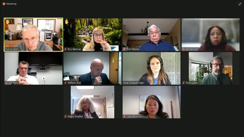 Daniel Selmi of the Santa Ana Regional Water Board makes a point during Friday's virtual meeting.